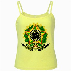 Coat of Arms of Brazil Yellow Spaghetti Tank