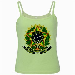 Coat of Arms of Brazil Green Spaghetti Tank