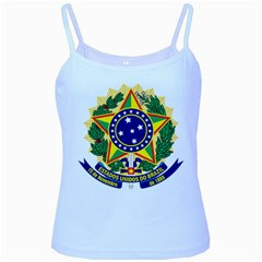 Coat of Arms of Brazil Baby Blue Spaghetti Tank