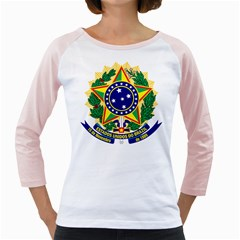 Coat of Arms of Brazil Girly Raglans