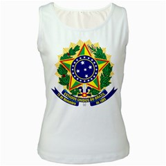 Coat of Arms of Brazil Women s White Tank Top