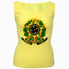 Coat of Arms of Brazil Women s Yellow Tank Top