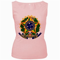 Coat of Arms of Brazil Women s Pink Tank Top