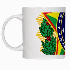 Coat of Arms of Brazil White Mugs