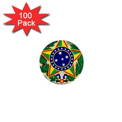 Coat of Arms of Brazil 1  Mini Buttons (100 pack)