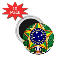 Coat of Arms of Brazil 1.75  Magnets (10 pack)