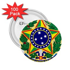 Coat of Arms of Brazil 2.25  Buttons (100 pack)