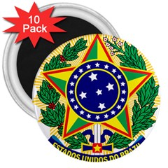 Coat of Arms of Brazil 3  Magnets (10 pack)