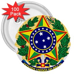 Coat of Arms of Brazil 3  Buttons (100 pack)