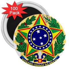 Coat of Arms of Brazil 3  Magnets (100 pack)