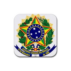 Coat of Arms of Brazil Rubber Coaster (Square)
