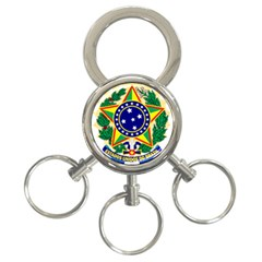 Coat of Arms of Brazil 3-Ring Key Chains