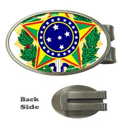 Coat of Arms of Brazil Money Clips (Oval)