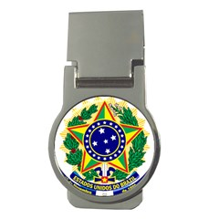 Coat of Arms of Brazil Money Clips (Round)