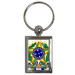 Coat of Arms of Brazil Key Chains (Rectangle)