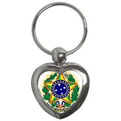 Coat of Arms of Brazil Key Chains (Heart)