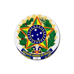 Coat of Arms of Brazil Rubber Round Coaster (4 pack)