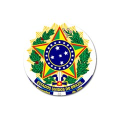 Coat of Arms of Brazil Magnet 3  (Round)