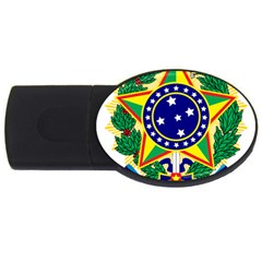 Coat of Arms of Brazil USB Flash Drive Oval (1 GB)