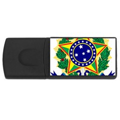 Coat of Arms of Brazil USB Flash Drive Rectangular (2 GB)