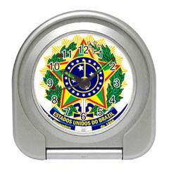 Coat of Arms of Brazil Travel Alarm Clocks