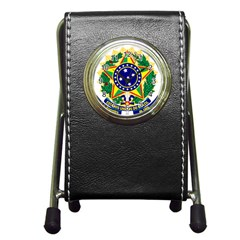 Coat of Arms of Brazil Pen Holder Desk Clocks