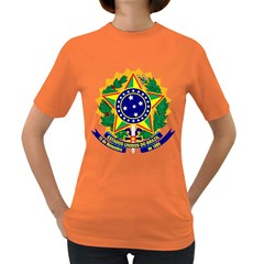 Coat of Arms of Brazil Women s Dark T-Shirt