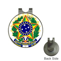 Coat of Arms of Brazil Hat Clips with Golf Markers