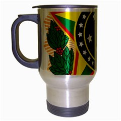 Coat of Arms of Brazil Travel Mug (Silver Gray)