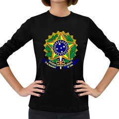 Coat of Arms of Brazil Women s Long Sleeve Dark T-Shirts