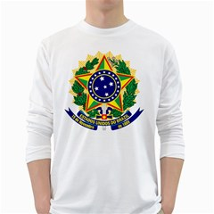 Coat of Arms of Brazil White Long Sleeve T-Shirts