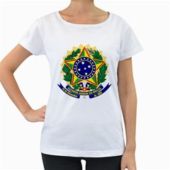 Coat of Arms of Brazil Women s Loose-Fit T-Shirt (White)