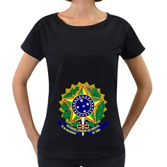 Coat of Arms of Brazil Women s Loose-Fit T-Shirt (Black)
