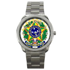 Coat of Arms of Brazil Sport Metal Watch