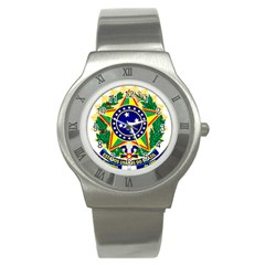 Coat of Arms of Brazil Stainless Steel Watch