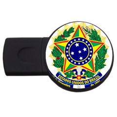 Coat of Arms of Brazil USB Flash Drive Round (4 GB)