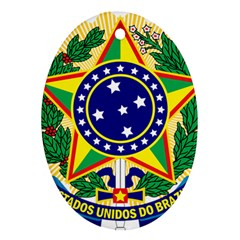 Coat of Arms of Brazil Oval Ornament (Two Sides)