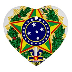 Coat of Arms of Brazil Heart Ornament (2 Sides)