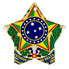 Coat of Arms of Brazil Star Ornament (Two Sides)