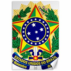 Coat of Arms of Brazil Canvas 12  x 18