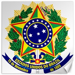 Coat of Arms of Brazil Canvas 16  x 16