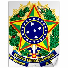 Coat of Arms of Brazil Canvas 18  x 24
