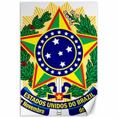 Coat of Arms of Brazil Canvas 20  x 30