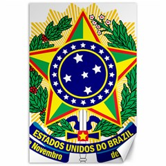 Coat of Arms of Brazil Canvas 24  x 36