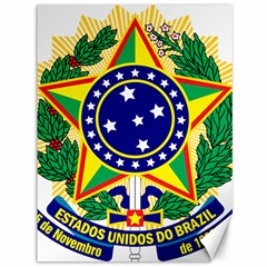Coat of Arms of Brazil Canvas 36  x 48