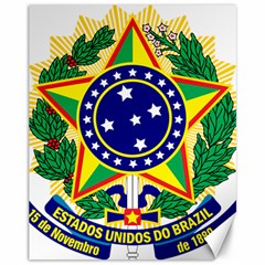 Coat of Arms of Brazil Canvas 11  x 14