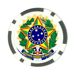 Coat of Arms of Brazil Poker Chip Card Guards