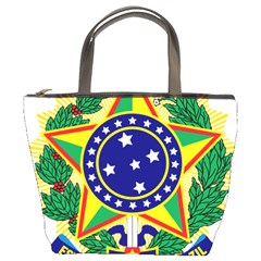 Coat of Arms of Brazil Bucket Bags