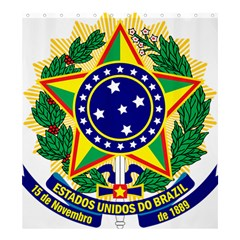 Coat of Arms of Brazil Shower Curtain 66  x 72  (Large)