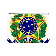 Coat of Arms of Brazil Cosmetic Bag (Large)